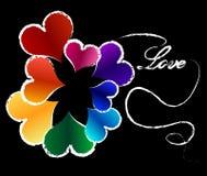 сердце предпосылки цветастое Стоковая Фотография RF