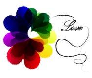 сердце предпосылки цветастое Стоковые Изображения RF