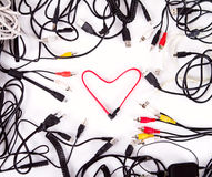 Сердце провода кабеля Стоковое Изображение RF