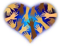 сердце разнообразности расовое Стоковые Фотографии RF