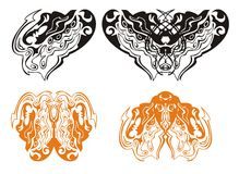 Сердце дракона и бабочки дракона Стоковое фото RF