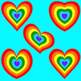 Сердце радуги установило 2 Стоковая Фотография