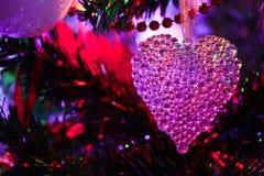 Сердце рождества прозрачное Стоковые Изображения