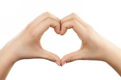 Сердце руки женщины Стоковое Изображение RF