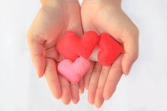Сердце руки 2 Стоковое Фото