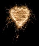 сердце сверкная Стоковое фото RF