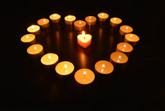 Сердце свечей Стоковое Фото