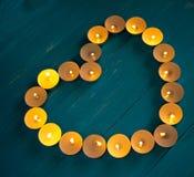 Сердце свечей Стоковая Фотография