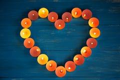Сердце свечей Стоковые Изображения RF