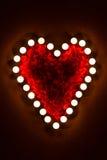 Сердце свечи стоковая фотография
