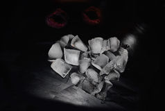 Сердце Сердца от льда Любовь Горячий поцелуй абстракция Стоковое Изображение RF