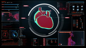 Сердце скеннирования сердечнососудистая людская система медицинская технология иллюстрация штока