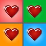Сердце стеклянной рубиновой влюбленности Стоковая Фотография