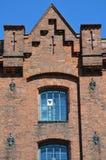 Сердце сформировало лист бумаги в средневековом окне решетки Стоковые Фото