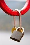 Сердце сформировало padlock влюбленности - красивую таможню дня свадьбы. Стоковое Изображение