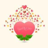 Сердце счастливого цвета поздравительной открытки влюбленности дня валентинки польностью малое Иллюстрация штока