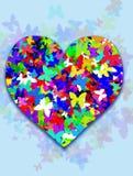 Сердце с бабочками Стоковые Изображения