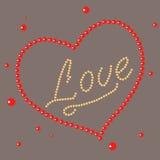 Сердце с влюбленностью слов бесплатная иллюстрация