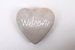 Сердце с гостеприимсвом слова Стоковые Изображения