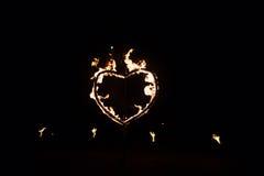 Сердце сделанное из пожара Стоковая Фотография RF