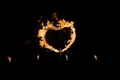 Сердце сделанное из пожара Стоковая Фотография