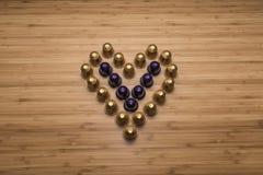 Сердце сделанное капсул кофе Стоковое фото RF