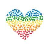 Сердце сделанное красочными конфетами Стоковое Изображение