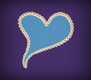 Сердце сделанное маргариток, карточка Стоковое Изображение RF