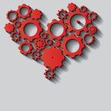 Сердце сделанное от cogs иллюстрация штока