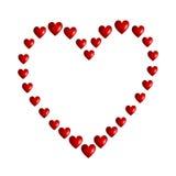 Сердце сделанное сердец Стоковое Изображение