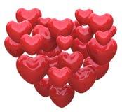 Сердце сделанное с влюбленностью выставок сердец Romance иллюстрация штока