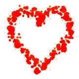 Сердце сделанное с красным стеарином Стоковая Фотография