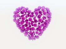 сердце сделало малые сферы Стоковое Изображение RF