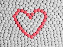 сердце сделало таблетки Стоковое Изображение RF