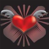 Сердце с крылами Стоковые Фотографии RF