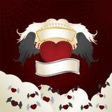 Сердце с крылами Стоковая Фотография