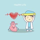 Сердце с доктором, жизнь здоровья Стоковые Изображения RF