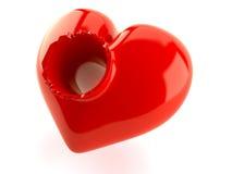 Сердце с отверстием Стоковая Фотография