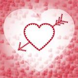 Сердце с стрелкой Стоковое Фото