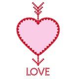 Сердце с стрелкой Стоковое Изображение