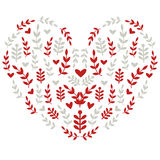 Сердце с фольклорными мотивами Стоковое Фото