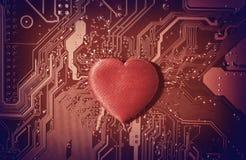 Сердце Сomputer стоковое изображение