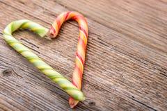 Сердце тросточки конфеты Стоковые Фото