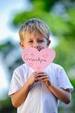 Сердце удерживания ребенка Стоковая Фотография RF