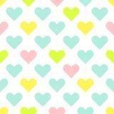 Сердце формирует картину вектора милого младенца безшовную Стоковая Фотография RF