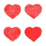 Сердце, халатно покрашенное с краской на бумаге Стоковое Фото