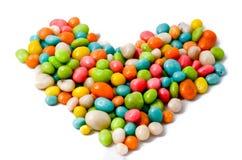 Сердце цветастых арахисов шоколада Стоковые Фотографии RF