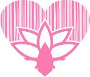 Сердце цветка валентинки Стоковое фото RF