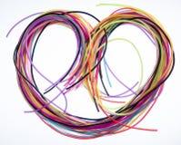 Сердце цветных проводов Стоковая Фотография