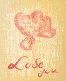 Сердце чертежа руки с цитатой Стоковая Фотография